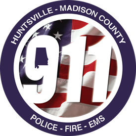 Huntsville-Madison County 9-1-1 circle logo.