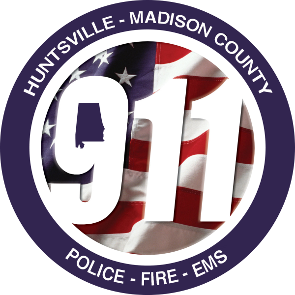 Official logo for huntsville-madison county 9-1-1.